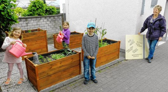 sch ler legen hochbeete an seehofschule h ttenfeld. Black Bedroom Furniture Sets. Home Design Ideas